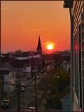 Sunset on Muir St
