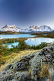 Pehoe lake and Cuernos del Paine