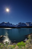 Torres del Paine at night
