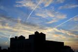 Contrails at Sundown