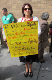 Protest Marcher Against the NYU2031 (De)Construction Plan and Movement