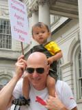June 29, 2012 Photo Shoot - NYU 2031 Plan City Hall Protest, Ground Zero & Trinity Church