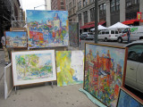 Artist Sonia Grineva Paintings at Washington Square Art Show