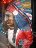 Indian Chief at a Smoke Shop