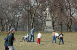 Joggers, Touch Football Game & Alexander Hamilton Statue