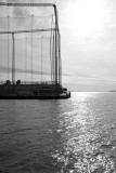 Hudson River, Chelsea Pier Golf Course Net, Varrazano Bridge and Statue of Liberty on the Horizon