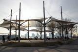 Just Before Sundown - Christopher Street Pier with Jersey City Skyline