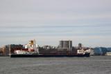 Tanker Cargo Ship & New Jersey Skyline from Chelsea Pier