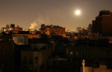 Wolf Moon - West Greenwich Village near Sunrise