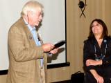 George Burden, the Tesla Science Foundation and Jane Alcorn, President Tesla Science Center at Wardenclyffe