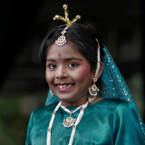 Little Hindu princess for a day...
