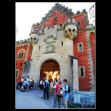 Neuschwannstein Castle entrance ...