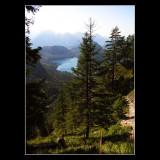 ... walking in beautiful German Bavaria mountains ...
