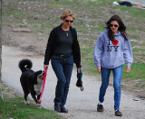 Ladies with dogs are everywhere
