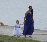 Flower girl and mother