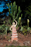 Sculpture and cactus. Botucatu, Brazil