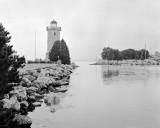 Lighthouse on a rainy day