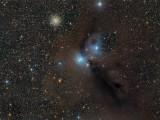 NGC 6726-7 in Corona Australis 2200x1651 pixels