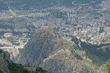 The mountains south of Amasya with views of the town