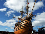 A model of Magellan's ship, Victoria, the first ship to circumnavigate the world