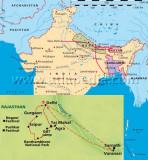 India, Nepal and Bhutan