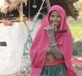One of the Daughters of a Little Village We Visited by Camel