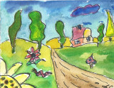 ACEO Funny House2