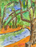 ACEO By The River