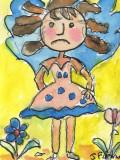 CEO Sad Girl  Watercolour pen and ink
