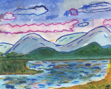 ACEO Mountains and Sea