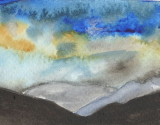 ACEO The Lake District Mountains Watercolour