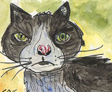 ACEO Original TAFFY THE CATSOLD