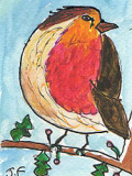 ACEO ROBIN SOLD