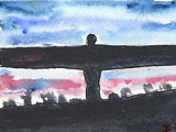 ACEO Original Angel Of The North SOLD