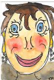 ACEO Egg Head 2 ORIGINAL MINI ART