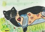 ACEO FOLK ARTY CAT