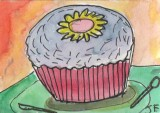 ACEO CUP CAKE YUMMY SOLD