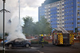 Putting out the Car Fire in Ashton-under-lyne last night 12 th July