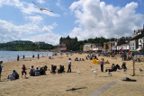 The Beach of Scarborough with The Grand Hotel in Background