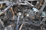 Whats left inside car after the fire