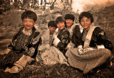Bhutan schoolgirls