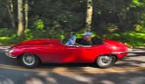 Jaguar XKE on the Road