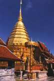 Chiang Mai's Golden chedi at Wat Phrathat Doi Suthep