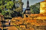 Amid the ruins of Sukhothai