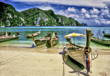 Longtail Boats on Phi Phi