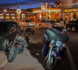 Bikers love Route 66, too and they were out in numbers!