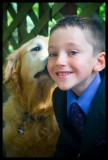 this is one of the last photos of Bo, kissing his best buddy, Sawyer, who misses him SO much!