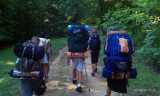 The High Adventure crew on their way to the backpacking trip.jpg