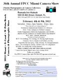 Miami Camera Show 2012 Flyer