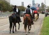 Riding in to Houston